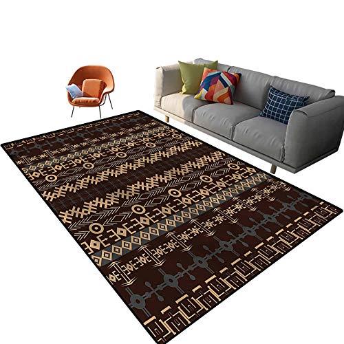 Alfombras de área impresa para interiores de 3 x 5 pies, alfombra rectangular con respaldo antideslizante para entrada, sala de estar, dormitorio, guardería, sofá, decoración del hogar