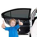 2 Stück Sonnenschutz Auto Baby mit UV Schutz, Auto Sonnenschutz Autofenster Seitenfenster Windowsox, Sonnenblende Sonnenschutzrollo Auto Accessories Kinder UV Sonnenschutz Autos (40 x 20 Inch)