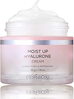 ELISHACOY Moist Up Super Hyalurone Cream 1.69 oz. (50g) - Oil Free Cream for Cooling Hydration, Fermented Lotus Flower Ext...