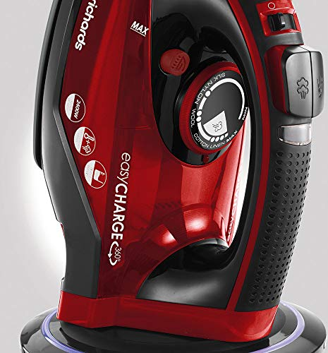 Morphy Richards 303250 Cordless Steam Iron easyCHARGE 360 Cord-Free, 2400 W, Red/Black