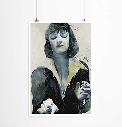 Paul Sinus Art Uma Thurman Pulp Fiction 90x60cm auf Masterclass Metallic Pearl High Gloss Photo Paper