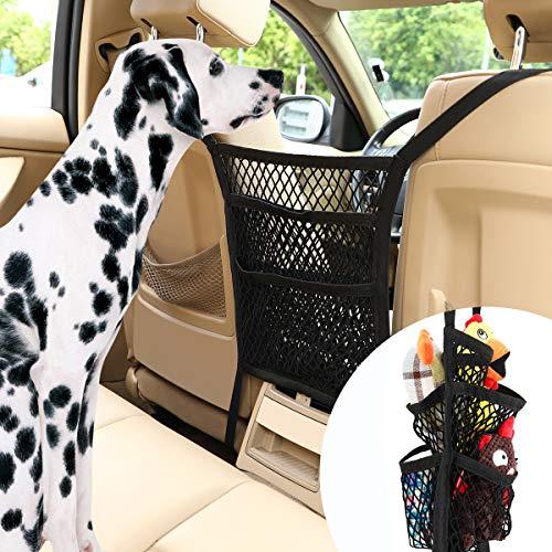 Pawaboo Red de Barrera para Perros de Coche con 5 Capas, Rejilla Protectora para Mascota para Automóvil de Malla de Seguridad Universal, Cubierta Protectora De Coche para Niños Perros Mascotas