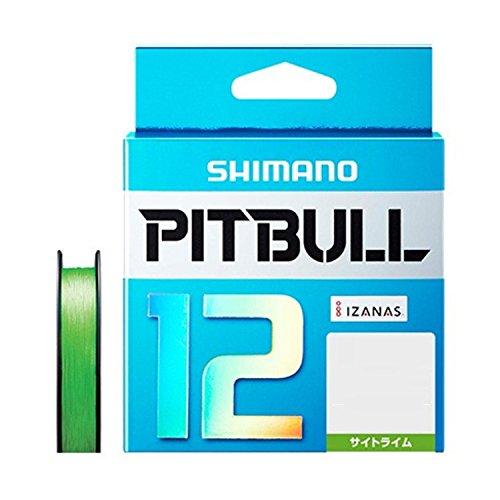 シマノ(SHIMANO) PEライン ピットブル 12本編み 200m 2.0号 サイトライム 43.7lb PL-M62R 釣り糸 ライン 2号