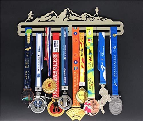Trihedral-X Marathon medaille display stand 304 roestvrij stalen frame nieuwe creatieve medaille medailles herdenkingswand doos