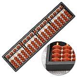 SEN Pequeño ábaco clásico, calculadora Soroban, 10.5 Pulgadas, 17 columnas 13.75 x 3.5 x 1 Pulgadas (35 x 9 x 2.5 centímetros)