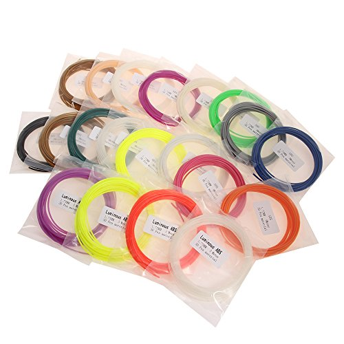ABS Filament - 3D Filament ABS 1.75mm, 3D Print Filament Set mit 20 PCS je...