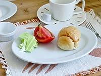 K'sキッチン 【30枚まとめて】 白い食器 オーバル リムプレート 23.3cm【美濃焼 中皿 楕円 玉縁 丈夫 アウトレット 9インチ】