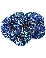 Wankd Aquarium koraal levensechte kunstplant aquarium landschap ornament hars planten aquarium decoratie niet giftig (blauw)