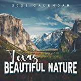 """Texas Beautiful Nature 2022 Calendar: 12-month Calendar - Square Small Gorgeous Calendar 8.5x8.5"""" for planners with large grid for note"""