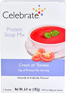 Celebrate Protein Soup - Cream of Tomato - 7 Single Serve Packets
