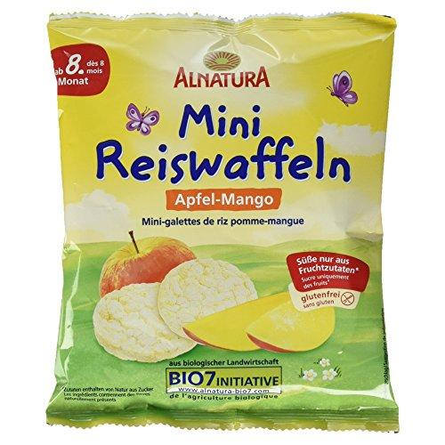 Alnatura Bio Mini Reiswaffeln Apfel-Mango, glutenfrei, 10er Pack (10 x 35 g)