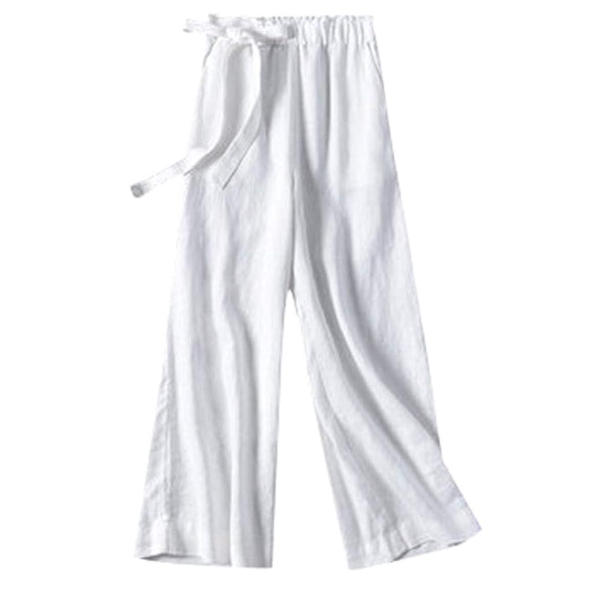 Women's Casual Pants Elastic Waist Cropped Trousers Bottoms Sports Wear Pants