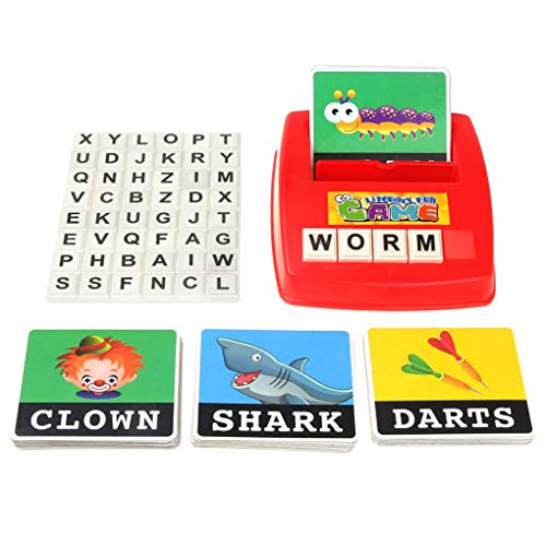 Acoolstore Letters Card Literacy Fun Game Learn English Language Children Educational Toys Spelling Toy English Spelling Alphabet Letter