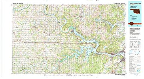 YellowMaps Keystone Lake OK topo map, 1:100000 Scale, 30 X 60 Minute, Historical, 1990, Updated 1990, 25 x 45.2 in - Paper