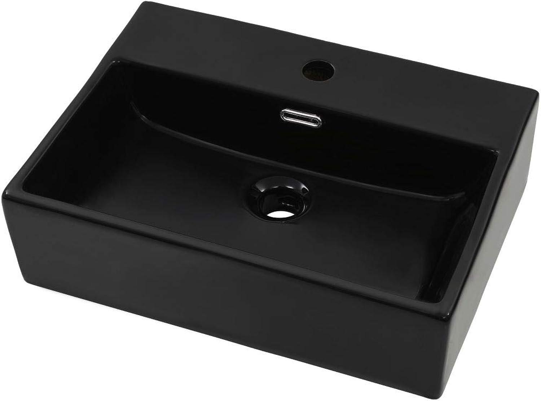 VidaXL Waschbecken mit Hahnloch Keramik 51,5x38,5x15cm Aufsatzwaschbecken