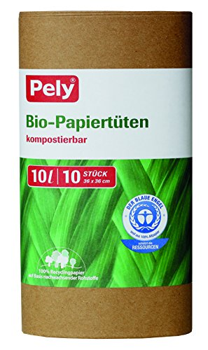 pely bio-papieren zakken, 10 liter, 36 x 36 cm