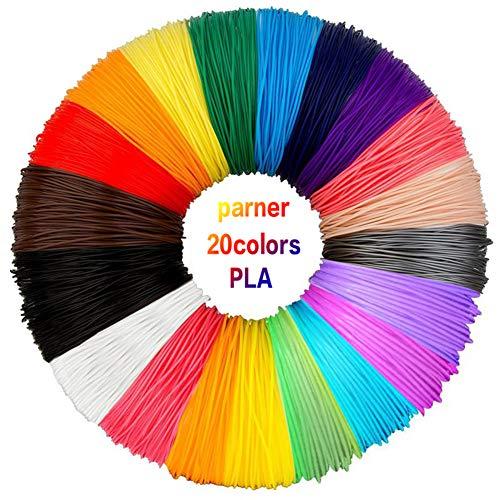Parner 3D Pen & Filament (20 Colors PLA Filament)