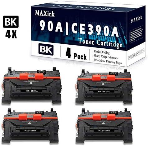 4 Pack Black 90A CE390A Toner Cartridge Replacement for HP Laserjet Enterprise 600 Printer M601n product image