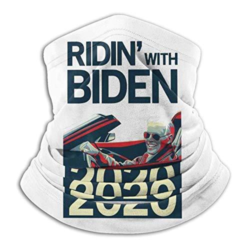 Calentador de cuello Ridin con máscara facial Biden 2020, pañuelos, polaina para el cuello, bufanda variada, transpirable, color negro suave