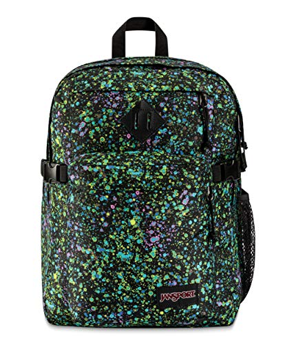 JanSport Main Campus Student Backpack - School, Travel, or Work Bookbag with 15-Inch Laptop Compartment, Iridescent Sky