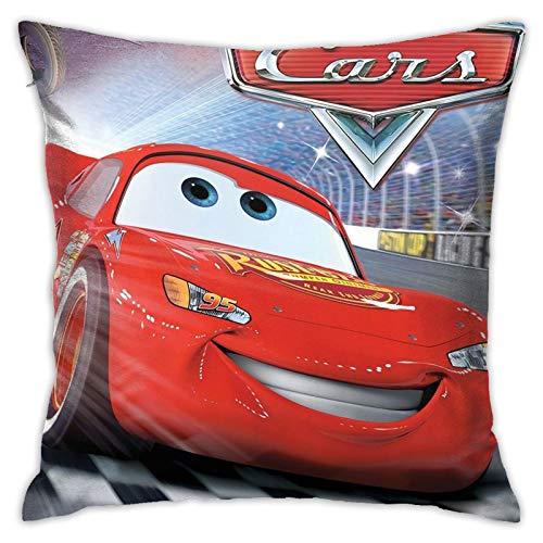 Funda de almohada decorativa cuadrada de doble cara para sofá, de Cars Lightning Mc-queen, tamaño estándar, 45,7 x 45,7 cm