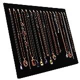 Tinsow 14.7'x12' 17 Hook Necklace Jewelry Tray/Display Organizer/Pad/Showcase/Display case