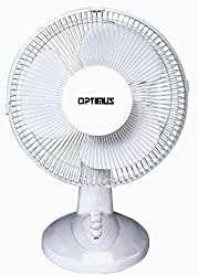 top rated Optimus F-1230 12 inch 3 speed desktop fan, white 2021