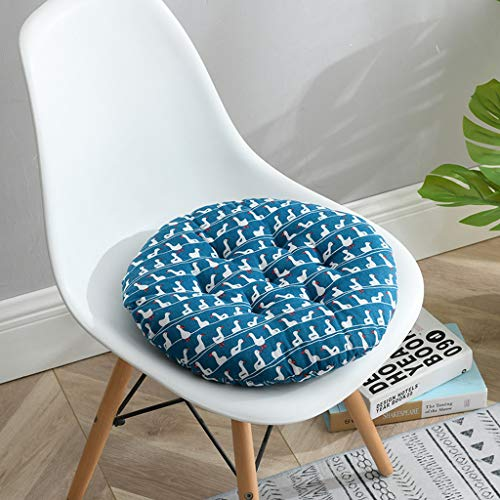 HKPLDE Set Stuhlkissen für drinnen und draußen, verwenden Sie 100% Baumwolle, eine große Auswahl an Farben für Garden Kitchen-45x45cm/x17.7x17.7in-AD