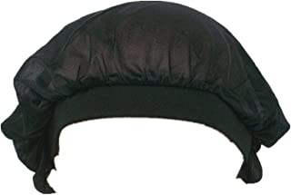 Soft Sleep Cap Night Satin Bonnet with Wide Premium Elastic Band for Women Black