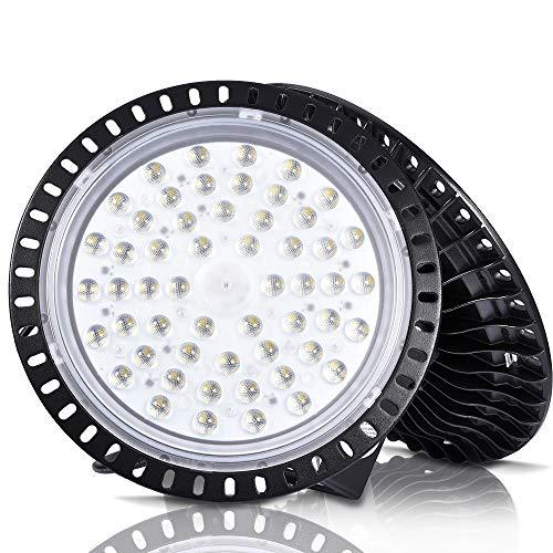 UFO LED High Bay Light, 6000-6500K, IP54, Waterproof Dust Proof, Warehouse LED Lights High Bay Lighting for Garage, Factory, Gymnasium, Basement, Parking?Newest Design ?