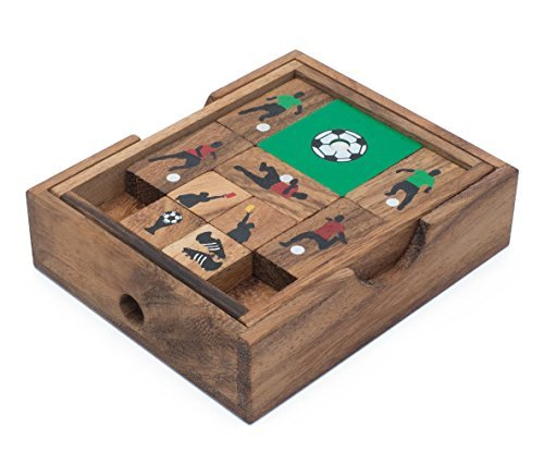 Soccer Game: Wooden Klotski Sliding Block Puzzle   Handmade Wooden Puzzles for Adults by  by Siam Mandalay