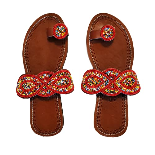 African Beaded Shoes/Masai Sandals