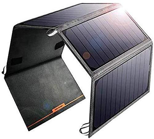 Beirich Portable 24 W Chargeur Solaire USB à 2 Ports Compatible avec Tous Les 4 Panneaux solaires repliables pour Appareil de comprimé Smartphone Banque de Puissance et des Excursions en