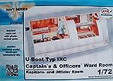 CMK n72016–Modelo submarino tipo IX de Capitán y accesorios oficiales WardRo , colo...