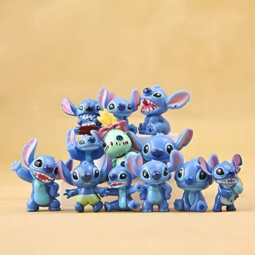 weichuang Decorazione del Giocattolo 3cm 12pcs Stitch Mini Giocattoli Figura Anime Stitch Azione Figura Regali di Natale E Bambole Casa Festa Fornitura Decorazione
