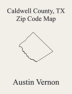 Caldwell County, Texas Zip Code Map: Includes Luling, Lockhart, and Martindale