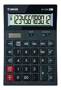Calculadora sobremesa Canon AS-1200 Negra