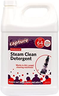 Capture Professional Steam Cleaner Carpet Detergent for All Cleaning Equipment Resolve Stain Smells Odor -1 Gallon Concentrate - Make 64 Gallons