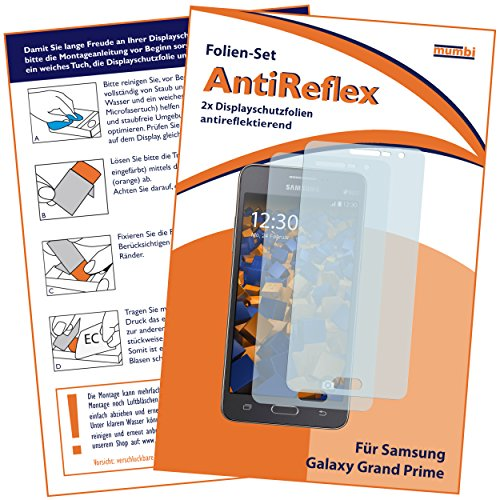 mumbi Schutzfolie kompatibel mit Samsung Galaxy Grand Prime Folie matt, Bildschirmschutzfolie (2x)