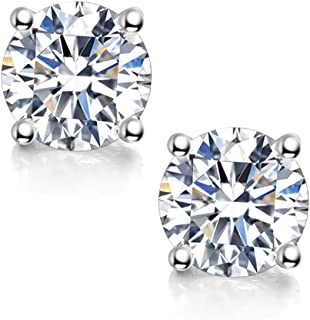 Moissanite Stud Earrings, 0.6ct-2ct DF Color Brilliant...