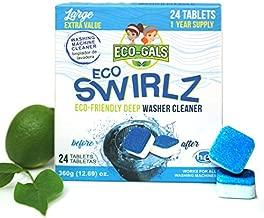 Eco-Gals Eco Swirlz Washing Machine Cleaner, 24 Count, 1 Year Supply
