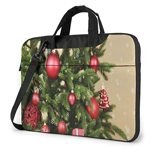 Decorated Christmas Tree Closeup Laptop Bag Case Sleeve Briefcase Computer Organizer for Women Men 15.6'