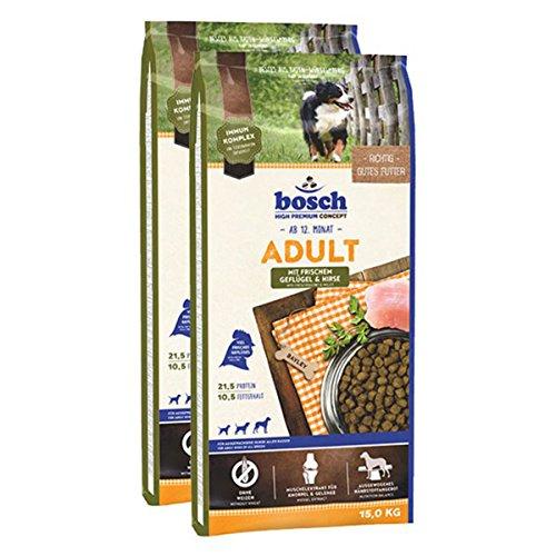 bosch Hundefutter Verschiedene Sorten 2x15kg Geflügel & Hirse