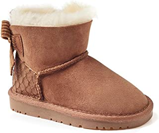 OZWEAR UGG Kids Bailey Bow Corduroy Boots(Scale-Embossed Heel Pop) (Water Resistant) 2 Colours OB149