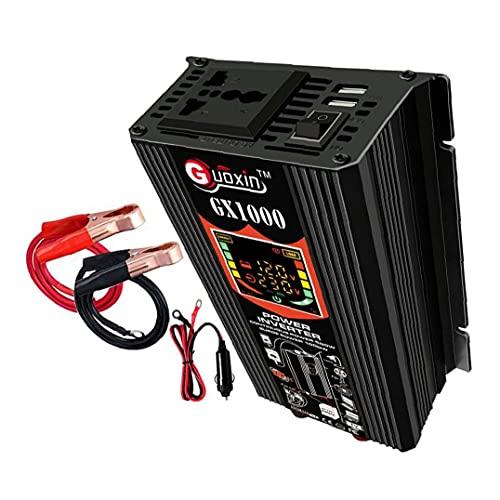 500W de potencia del inversor 12V DC para adaptador de enchufe de CA del inversor 110V coche de onda sinusoidal pura del convertidor de energía, Inversor