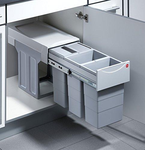Hailo Terzett Küchen-Abfalleimer, Plastik, Grau, One Size