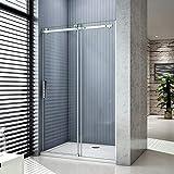 Aica box doccia porta scorrevole cristallo temperato 8mm anticalcare (140cm(porta))