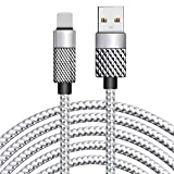 Cell Phone Charger, Rocketek Charging Cord 26FT/8M Super Long Nylon Braided High Speed Connector USB Cable Charger Cord Replacement Compatible with Phone 8/8 Plus / 7/7 Plus / 6/6 Plus and More