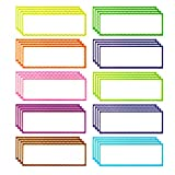 40 Pieces Magnetic Dry Erase Labels and Stickers, Favourde Writable Flexible Magnet Name Plate Labels Use for Whiteboard Magnets, Fridge and Classroom Behavior Chart,10 Colors (5.5 x 2 Inch Set 1)