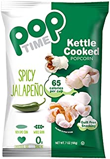 POPTime Kettle Corn, Spicy Jalapeno - 7 OZ (Pack of 12) Mouthwatering!